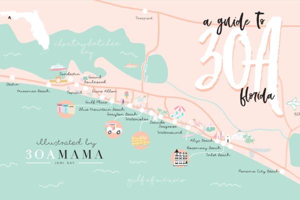 30A Mama - 30A Map Neighborhood Guide - Where to Stay on 30A