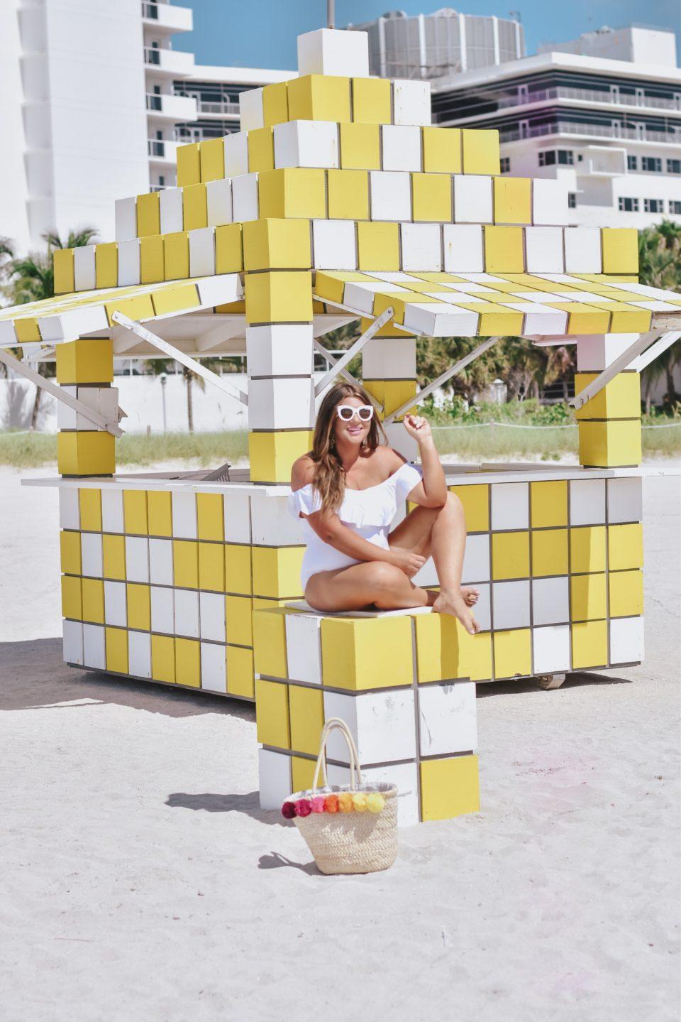 Miami Swim Jami Ray Trina Truk Off Shoulder One Piece