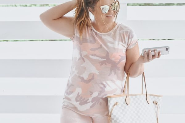 Casual Mom Style: Free People Camo and Zella Live In Leggings