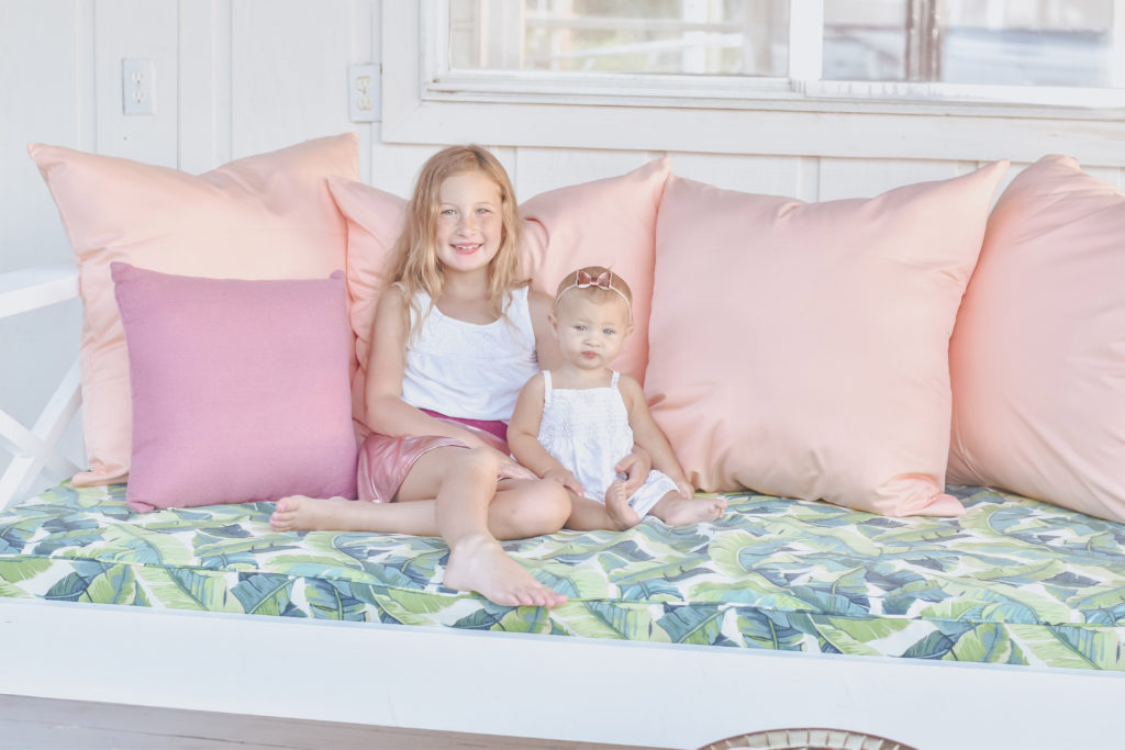 Jami Ray's chic swing bed on the dock by Nate and Lane - Emery and Collins