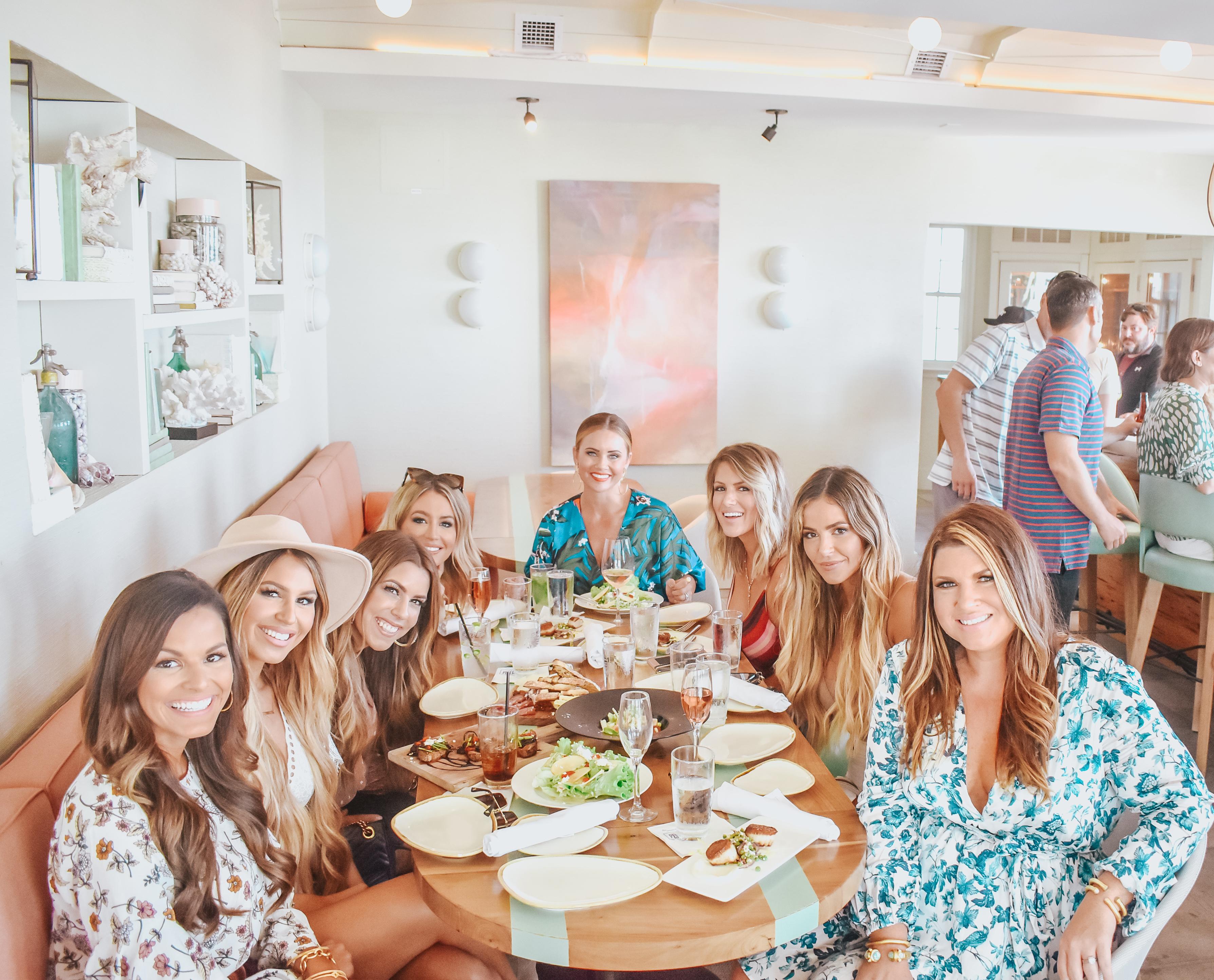 30A Blogger Weekend - Katy Harrell, Hollie Woodward, Bailey Schwartz, Sarah Knuth, Brooke Webb, Jessica Fay, Jordan Underwood and Jami Ray at Pescado Rosemary Beach
