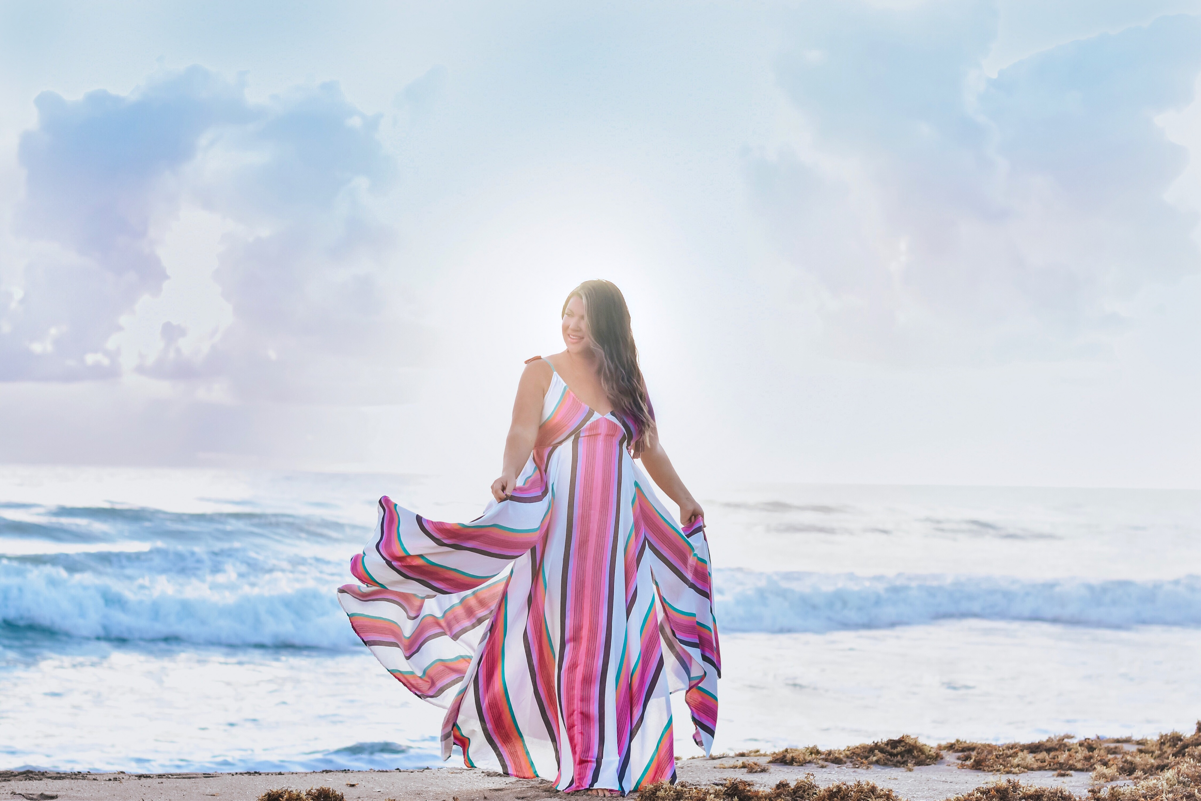 Hutchinson Shores - 30A Mama Travel - Free People stripe dress