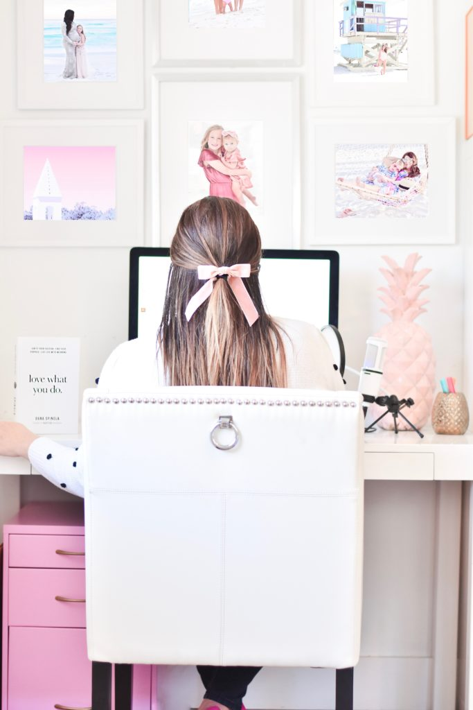 At My Desk - Girly Pink Workspace