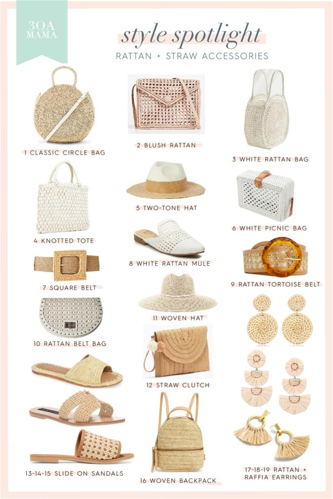 Style Spotlight: Rattan Accessories + Decor