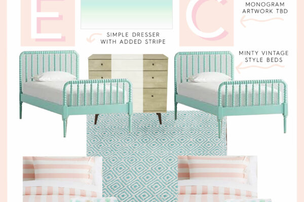 30A Mama Home - Girls Room Design Plan Mockup